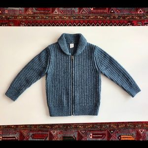 4y Gap blue zippered chunky-knit sweater